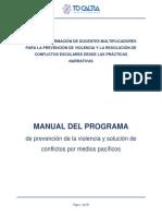 Manual Del Programa de Prevención de La Violencia y Solución de Conflictos Por Medios Pacíficos
