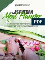 Easy Vegan Meal Planner