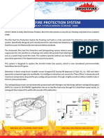 Rim seal fire protection
