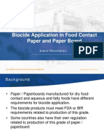 Biocide Application in Food Contact Paper and Paper Board