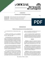 Decision 671 Can - Armonizacion de Regimenes Aduaneros