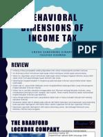 Behavioral Dimensions of Income Tax