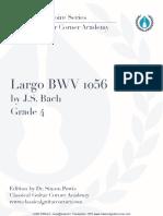 Largo BWV 1056 with Tabs