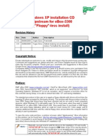 WinXP Installation CD Slipstream for eBox-3300