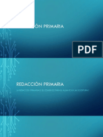 Redacción primaria