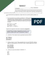 Evaluación U I Matemática 6