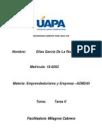 Tarea II Emprendurismo y Empresas de Elias Garcia (1)