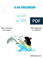 Cahier de Vacances Cp Ce1