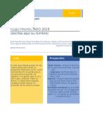 GRATIS Flujo Proyectado Finanzas Personales 2019 Mario Magana