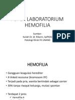 ASPEK LABORATORIUM HEMOFILIA