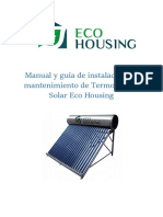 Manual Termotanque Solar Eco Housing