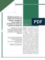 Multiletramentos  e a prática de escrita em língua  estrangeira