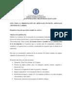 Guia Presentacion Articulos Tecnicos