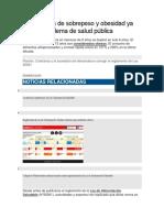 Perú Niveles de Sobrepeso y Obesidad Ya Son Un Problema de Salud Pública