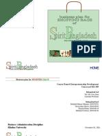 Spirit Bangladesh Business Plan