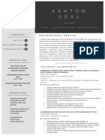 au- teaching resume 2019
