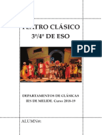 Teatro Clásico 3º e 4º ESO 2019.  Electra de Eurípides,  Xemelgos de Plauto.
