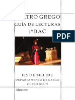 Teatro Grego 1º BAC 2019. Electra de Eurípides e Lisístrata de Aristófanes