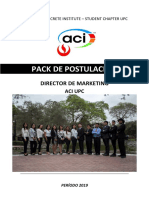 Pack Postulacion Marketing Aci Upc 2019