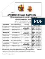 Alpine School District - Summer lunch program dates and locations