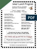 Davis School District - summer lunch program dates and locations