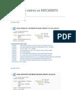 Diferenças Entres Os PATCHSETS Oracle 18c