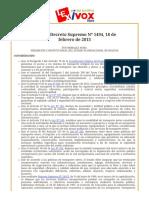 Bolivia_ Decreto Supremo Nº 1494, 18 de febrero de 2013.pdf