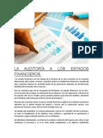 La Auditoría a Los Estados Financieros (Apunte)