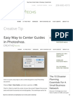 Easy Way to Center Guides in Photoshop
