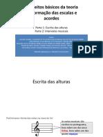 Teoria Das Escalas e Acordes Pt.1 e 2