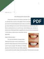 walker rouse informative essay on dentist whitening
