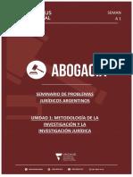 Manual Del Alumno - Unidad 1 - Seminario Problemas Juridicos Argentinos
