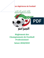 Réglement Des Championnats de Football Professionnel