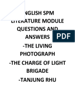 English Spm Literature Module Questions and Answers