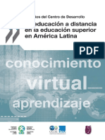 Educacion Superior a Distancia en America Latina