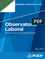 Boletín Economía y Demanda Profesional - mayo 2019
