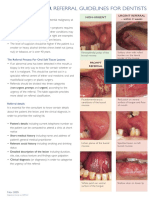 Mouth Cancer Referral Guidelines for Dentists