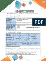 Guía de Actividades y Rúbrica de Evaluación - Fase 3. Identificar Las Principales Características Del Servicio (1)