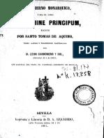 Gobierno Monarquico TOMAS de AQUINO Caps I y VI