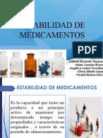 estabilidad de medicamentos