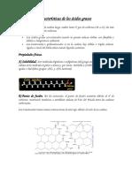 Estructura y Características de Los Ácidos Grasos QO