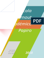 Escala Burnout Académico Papiro