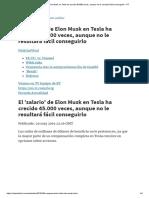 Salario de Elon Musk en Tesla