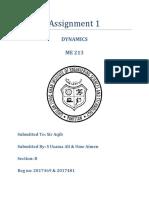 Assignment 1 Dynamics