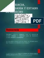 Democracia, Ciudadanía y Estado de Derecho