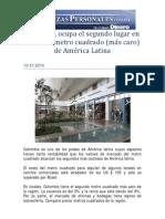 Colombia Segundo más rentable en Locales