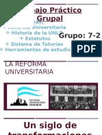 La Reforma Universitaria Power Point 2 Terminado
