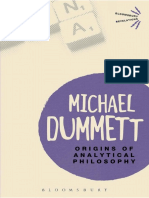 MICHAEL DUMMETT - Origins of Analytical Philosophy-Bloomsbury Academic (2001).pdf