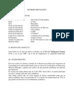 Informe Psicologico D-48 y Trf Juan Carlos