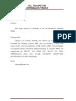 Call Transaction Uderson Luis Fermino